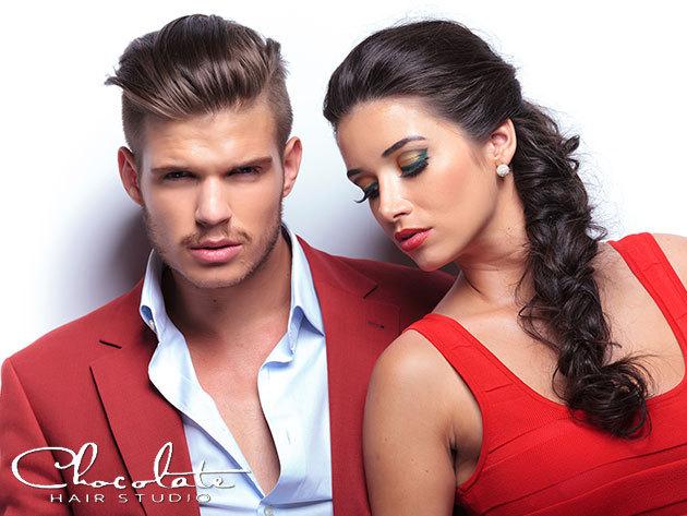 Női és férfi hajvágás mosásssal, szárítással, formázással, a belvárosi Chocolate Hair Studioban (József krt.)
