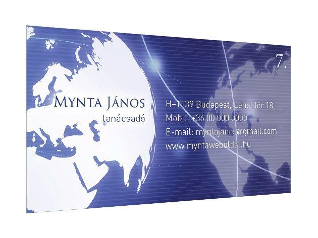 Laminált névjegykártya 200 db 300 g papír laminált - 4+0 szín (egyoldalas)