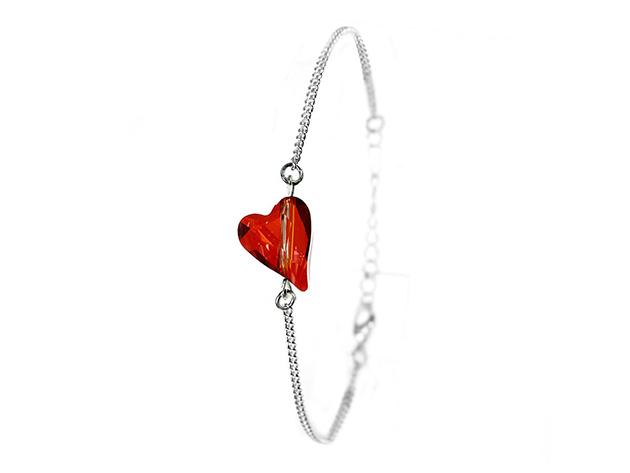 So Charm© Karkötő szíves SWAROVSKI® ELEMENTS® medállal (piros) BS034-SB048-REMA