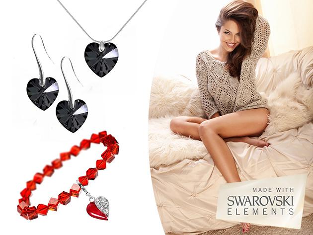 Ékszerek a So Charm© francia gyártótól, SWAROVSKI® ELEMENTS® kristályokkal díszítve, Valentin napra