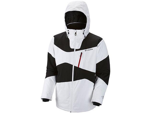 WM1039l_100 Parallel Gride Jacket / Férfi fokozottan vízálló/lélegző sikabát: elasztikus anyag, hegesztett varrás, Omni-Heat hőtükrös bélés /XL