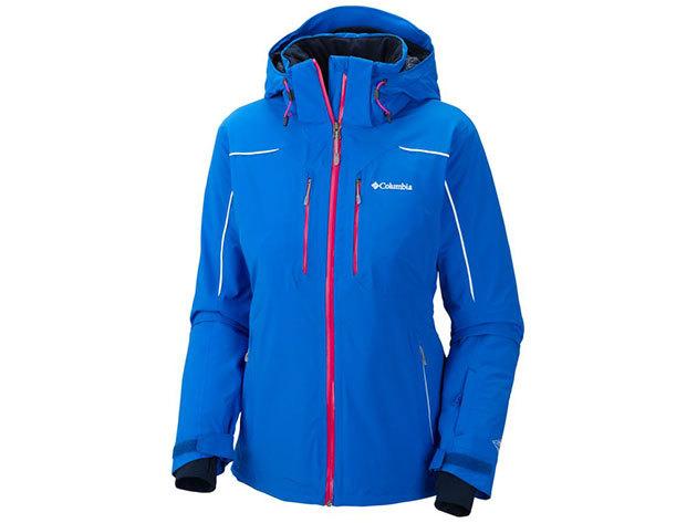 SL4274l_409 Millenium Blur Jacket/ Női fokozottan vízálló/lélegző síkabát:négyiárnyú elasztikus anyag, hegesztett varrás, Omni-Heat hőtükrös bélés /L