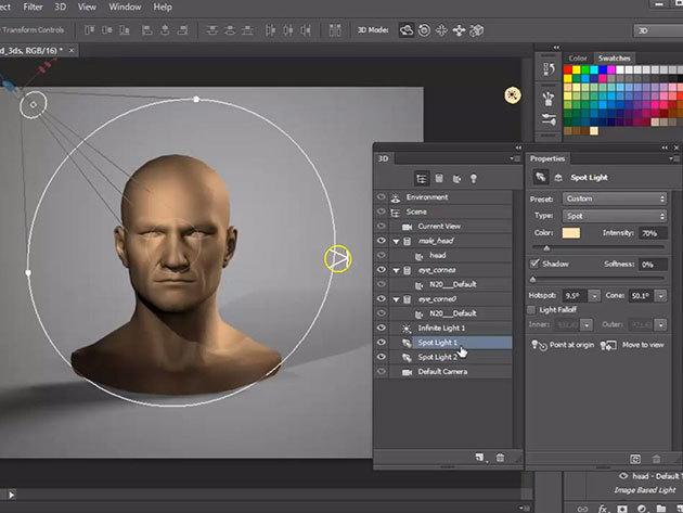 Photoshop CC online grafikus kurzus vizsgával és igazolással, 1 év korlátlan hozzáféréssel az internetes tartalomhoz - 1 fő részére (angolul)