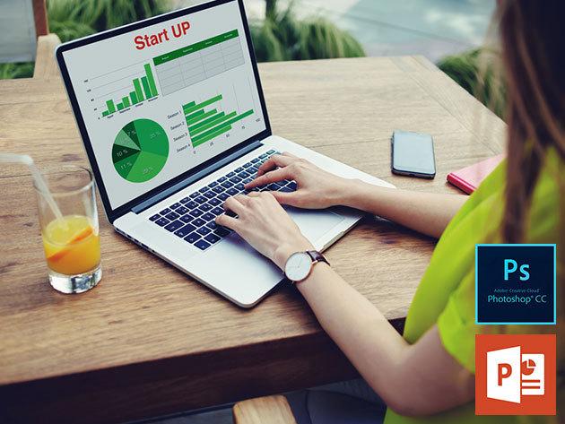 Photoshop és Microsoft Power Point online kurzusok angol nyelven, vizsgával és tanúsítvánnyal, 1 év korlátlan hozzáféréssel az internetes tartalomhoz - 1 vagy 2 fő részére