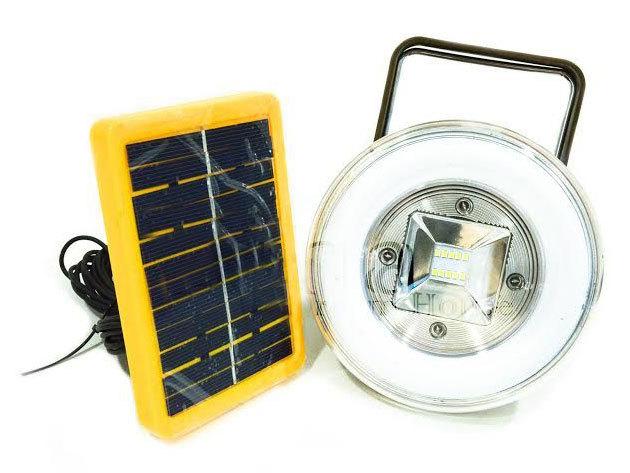 Akkumulátoros, napelemes hordozható reflektor és Power Bank