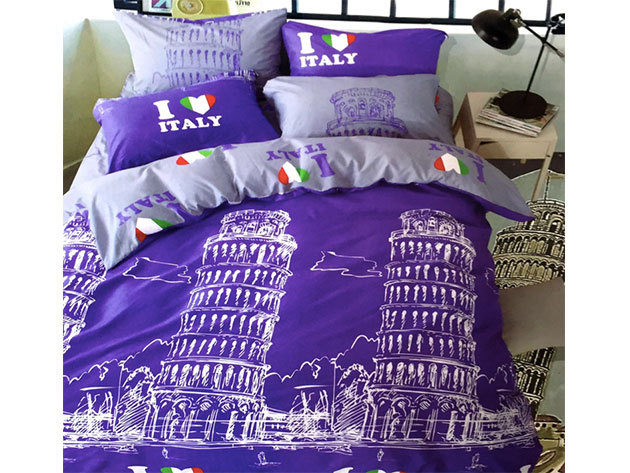 Olasz / 3 részes ágynemű garnitúra - lila (City Fashion / 7)
