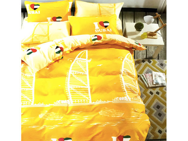 Dubaj / 3 részes ágynemű garnitúra - sárga/fehér (City Fashion / 6)