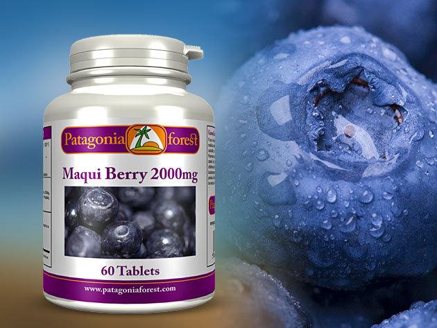MAQUI bogyó kapszula - a legerősebb természetes antioxidáns a világon! Elősegíti az anyagcserét, a fogyást, méregtelenít, és jó hatással van a szervezetre! 2000 mg (60 db - 2 havi adag)