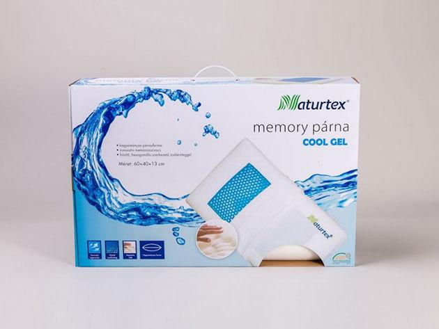 Memory Cool Gél párna 60x40x13 cm