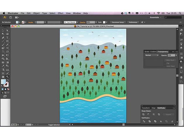 Adobe illustrator CS6 online kurzus kezdőknek és haladóknak, angolul, 1 éves hozzáféréssel / 2 fő részére