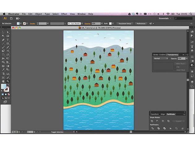 Как создать фон в adobe illustrator
