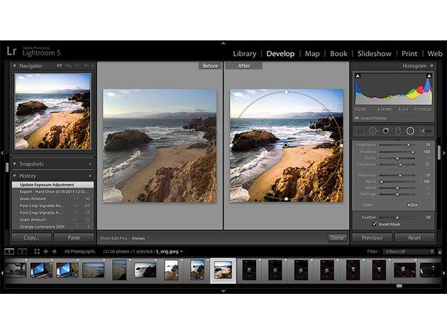 Adobe Lightroom 5 online kurzus kezdőknek és haladóknak, angolul / 1 fő részére