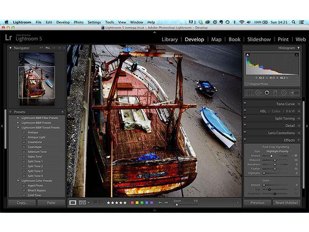 Adobe Lightroom 5 online kurzus kezdőknek és haladóknak, angolul / 2 fő részére
