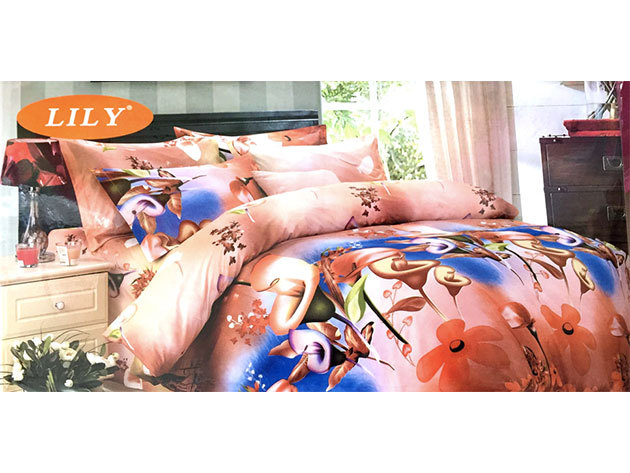 Virágos 7 részes ágyneműhuzat garnitúra