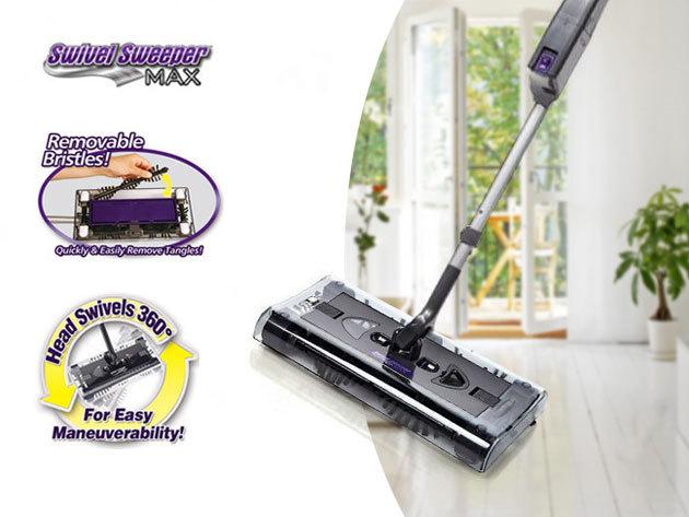 Seprőgép feltölthető akkumulátorral, vezeték nélkül / Swivel Sweeper, a praktikus és könnyű takarításért!