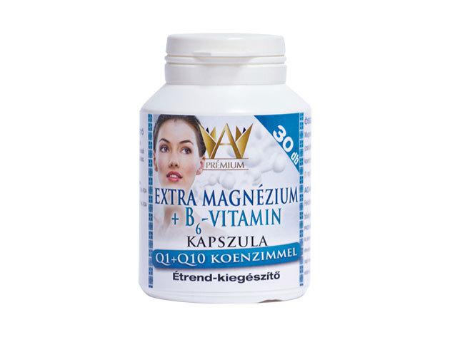 Magnézium+B6-Vitamin kapszula, Q1+Q10 koenzimmel (30 db)