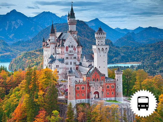A németországi Neuschwanstein kastély (a világhírű tündérmesék palotája) és a csodaszép Salzburg: non- stop buszos kirándulás   / fő