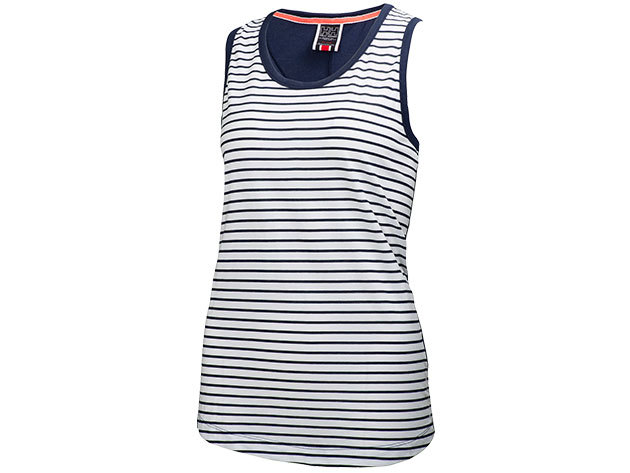Helly Hansen W NAIAD SINGLET EVENING BLUE STRIPE L (54185_690-L)