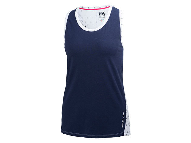 Helly Hansen W NAIAD SINGLET EVENING BLUE ANCHOR S (54185_691-S)