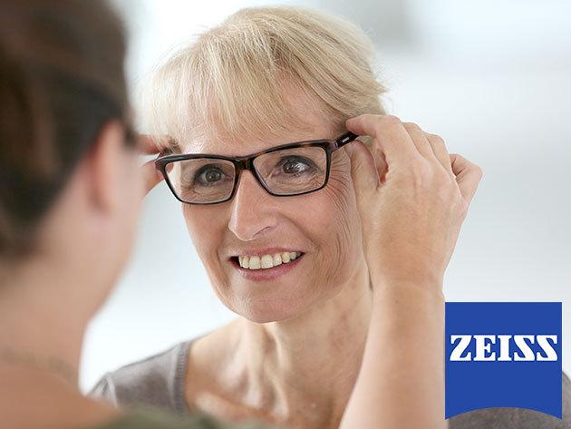 Szenior komplett szemüvegek: 2 db választható műanyag keret, HMC rétegű egyfókuszú lencsével (Carl Zeiss Vision by SOLA - Monofocal) olvasó / távollátó - XVI. kerület