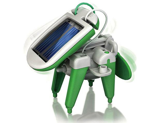 Mini Solar Robot - napelemmel működő, 6 az 1-ben átalakítható játék: hajó, kutya, autó...stb.