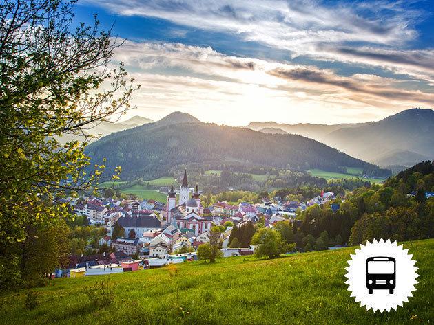 Ausztria, non-stop buszos utazás: Melki Apátság (UNESCO világörökség) és Mariazell, a hangulatos hegyi falvacska, időpont: április 28. és szeptember 1.  / fő
