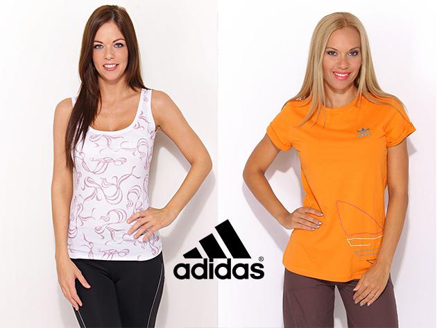 Adidas sportos női atléták, pólók és pulóverek, valamint férfi széldzsekik több színben és méretben