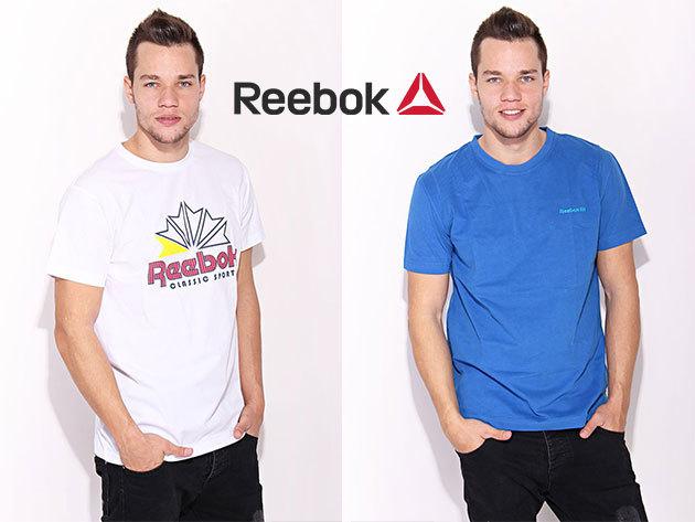 Reebok férfi felsőruházat, hagyományos és szűkebb fazonú, kerek nyakú pólók, Dry Fit technológiával készült cipzáras pulóverek, több színben és méretben