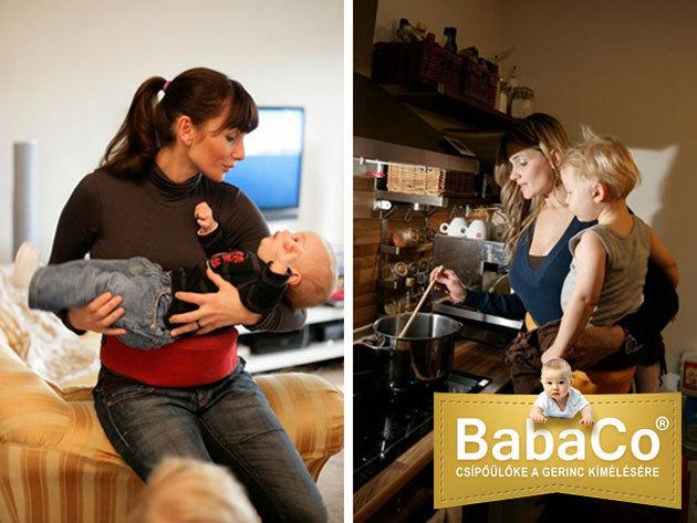 BabaCo® csípőülőke: könnyed baba- és gyermekhordozó megoldás az édesanyák gerincének, hát- és vállízületeinek védelmére / gyógyászati segédeszköz
