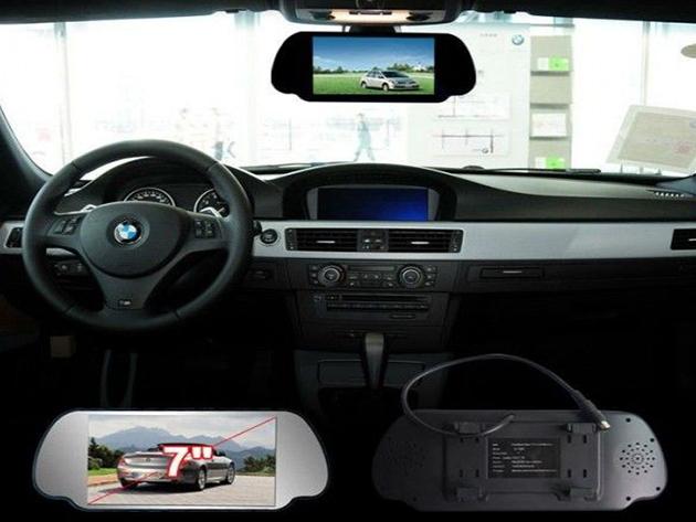 Visszapillantóra helyezhető tükör monitor - beépített mikrofon és hangszóró, bluetooth kapcsolat, tolatókamera megjelenítésére és a telefon kihangosítására