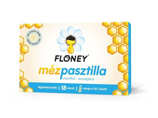 Floney MENTHOL - EUCALYPTUS Légzéskönnyítő mézpasztilla