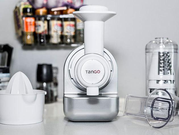 Tango 3in1 konyhai robtogép jégkrémkészítő + zöldségaprító + gyümölcsfacsaró funkciókkal, 1 év garanciával