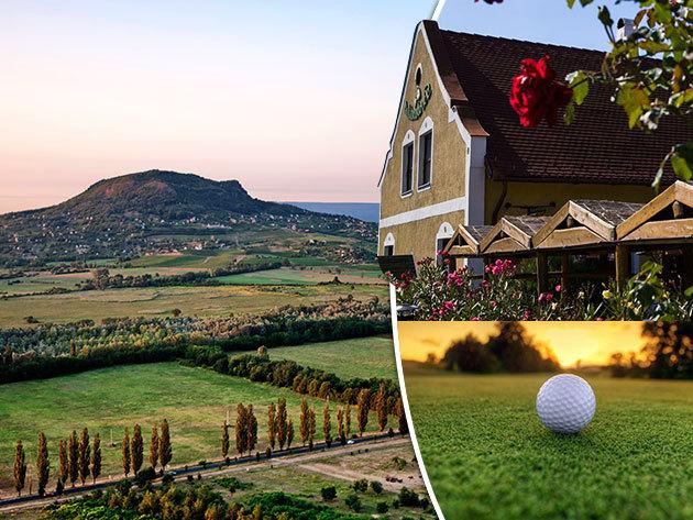 Badacsonytomaj, Borbarátok Étterem, Panzió, Borház – 3 nap/2 éj 2 személyre félpanziós ellátással, egy üveg borral, borkóstolóval, golfélménnyel, romantikus nyaralás a Balaton északi partján