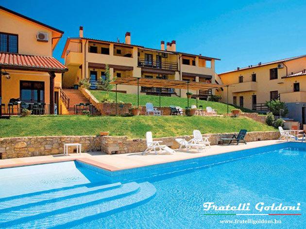 TOSZKÁNA, Olaszország, Montespertoli - medencés apartman bérlése 8 nap / 7 éjszakára, akár 5 fő részére - MORZANO FARM