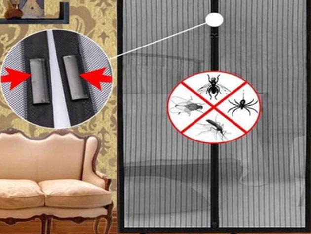 Mágnesekkel záródó szúnyogháló - Magic Mesh fehér színben