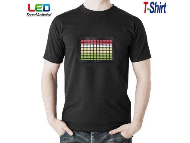 Zenére világító Disco póló - L