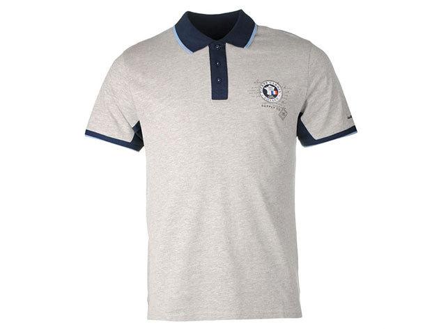 Pierre Cardin Badge Polo Shirt Mens Szürke (S)