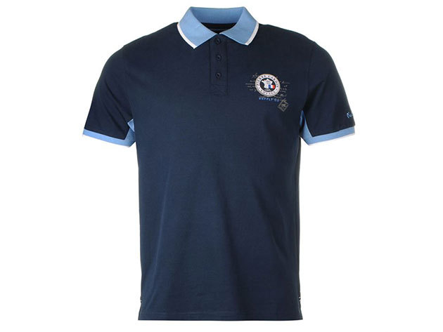 Pierre Cardin Badge Polo Shirt Mens Sötétkék (S)