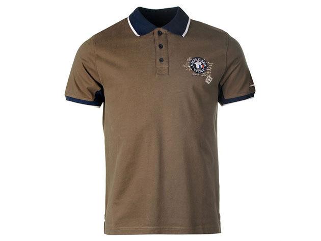Pierre Cardin Badge Polo Shirt Mens Khaki (S)