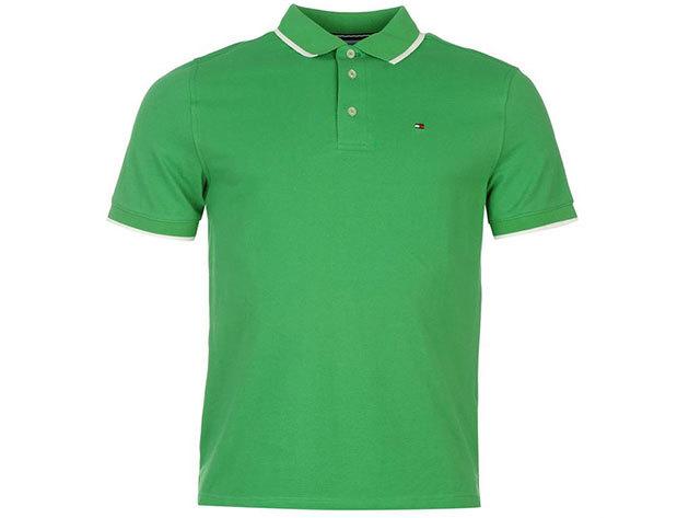 Tommy Hilfiger férfi galléros póló, green - S