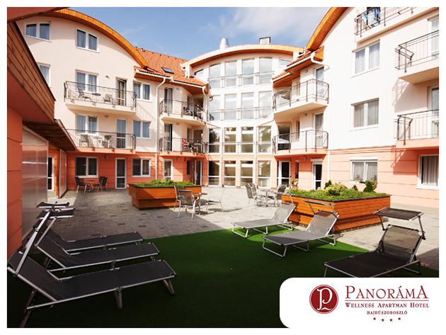 HAJDÚSZOBOSZLÓ szállás félpanziós ellátással 3 nap/2 éjszakára wellnesszel és akár fürdőbelépővel 2 fő részére / Panoráma Wellness Apartman Hotel****
