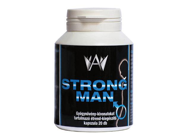 Strong Man kapszula férfiaknak természetes összetevőkből, gyógynövény-kivonatokkal (20 db kapszula/doboz)