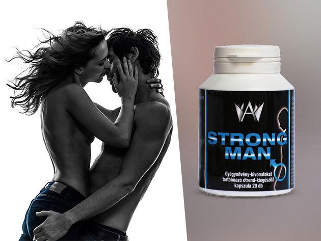 Strong Man kapszula csak férfiaknak, természetes összetevőkből, gyógynövény kivonatokkal (20 db/ doboz)