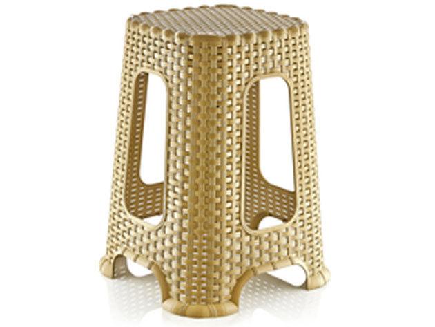 Világosbarna-arany rattan sámli / nagy méretű (cikkszám:4070042)