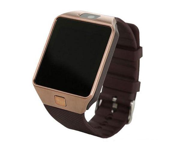 Smart Watch okosóra iOS és Androidos telefonokhoz / arany-barna