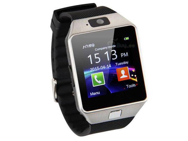 Smart Watch okosóra iOS és Androidos telefonokhoz / ezüst-fekete