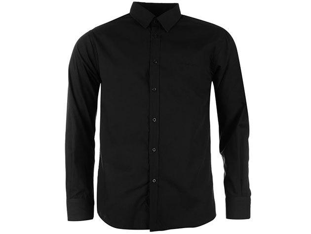 Pierre Cardin Long Sleeve Shirt Mens férfi hosszú ujjú ing black - S