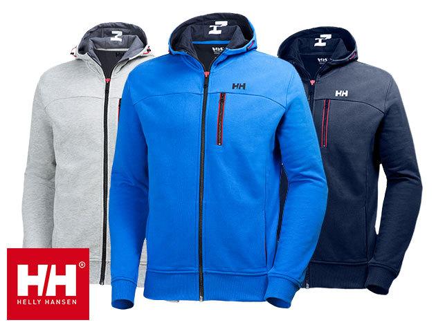 Helly Hansen CREW FZ HOODIE férfi cipzáros pulóver kapucnival (S-XXL) 100% minőségi pamutból