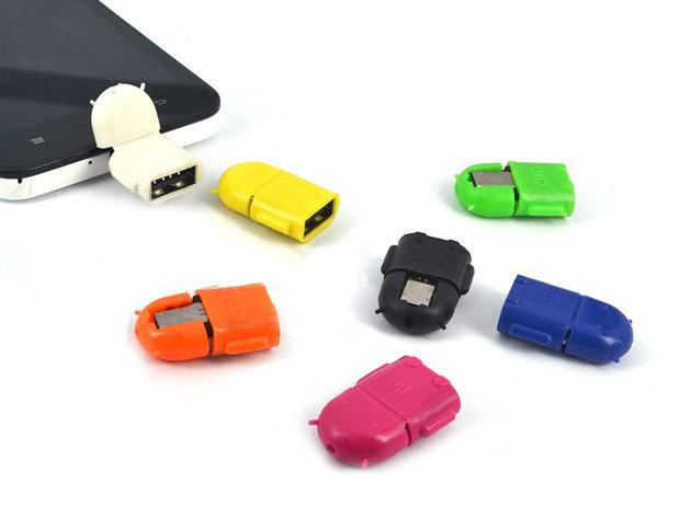 OTG USB-MicroUSB átalakító adapter, cuki figurával, választható színekben -  bármilyen USB eszközt a telefonodhoz, tabletedhez csatlakoztathatsz (pendrive, billentyűzet...)