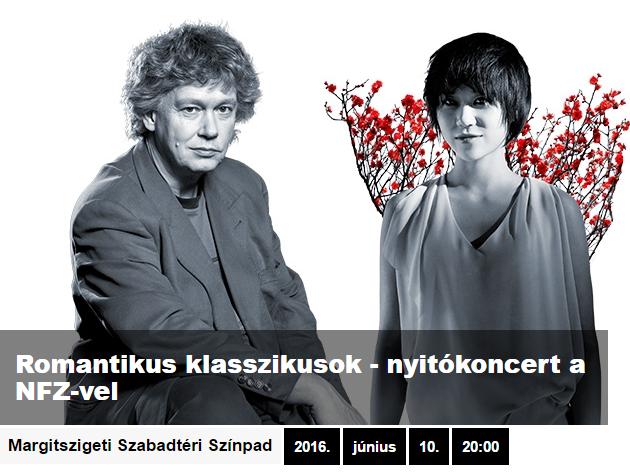 Margitszigeti Szabadtéri Színpad - Romantikus klasszikusok / nyitókoncert a Nemzeti Filharmonikusokkal és Yuja Wang kínai zongoraművésszel június 10-én